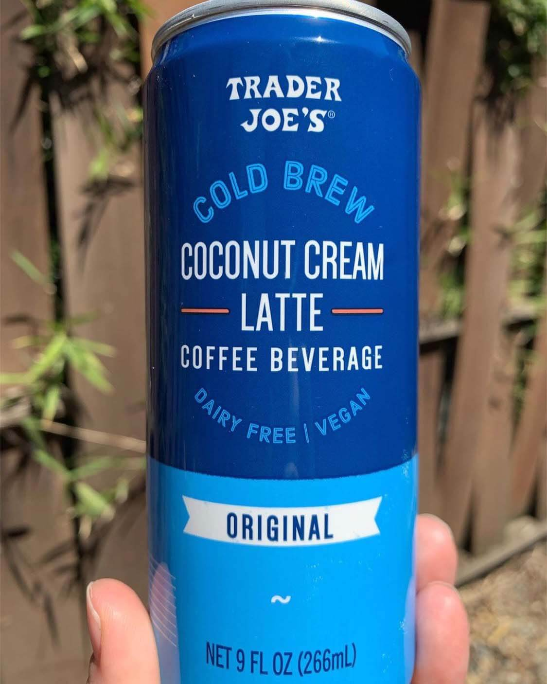 Trader Joe's Coconut Cream Latte