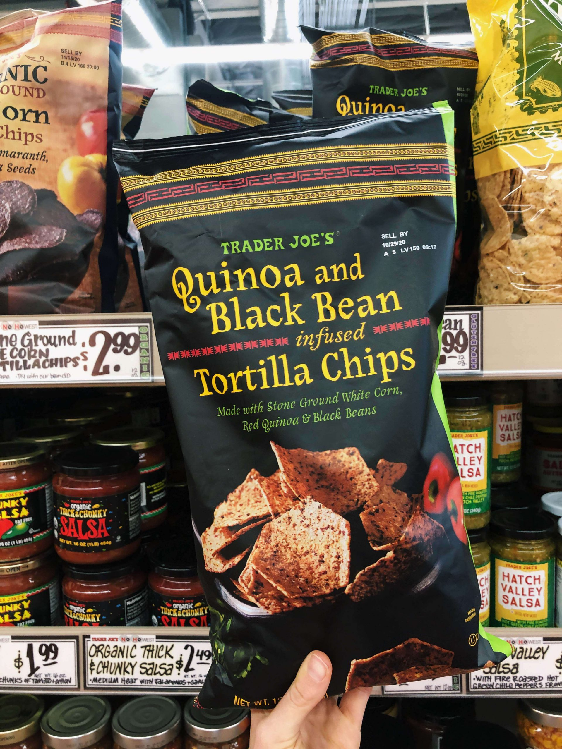 Trader Joe's Quinoa and Black Bean Infused Tortilla Chips