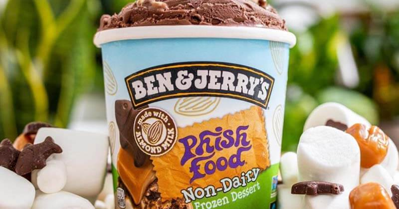 Ben and Jerry's Non-Dairy Phish Food