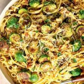 Vegan Brussels Sprouts Pasta