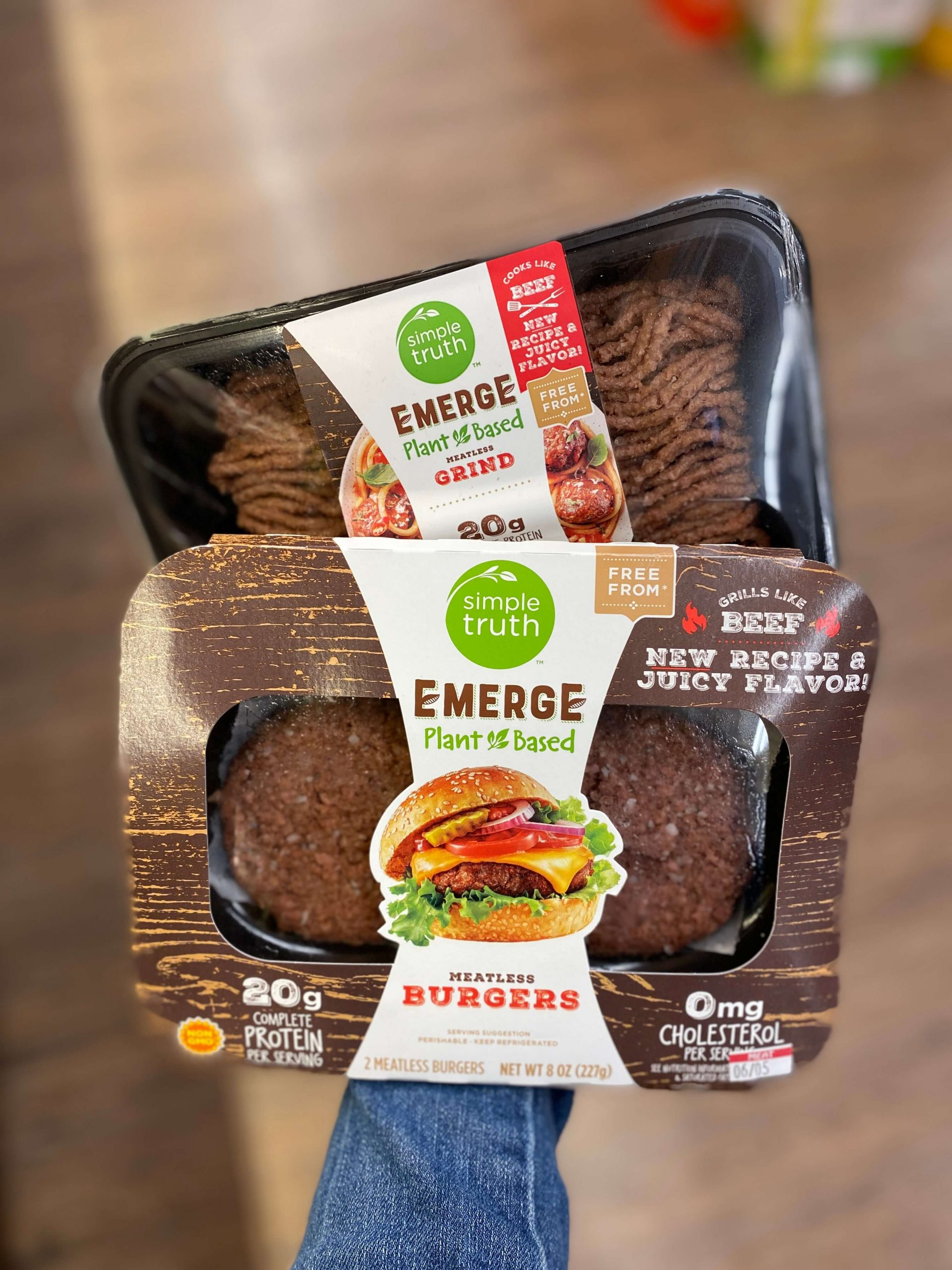 Emerge Plant-Based Meatless Grind and Burgers