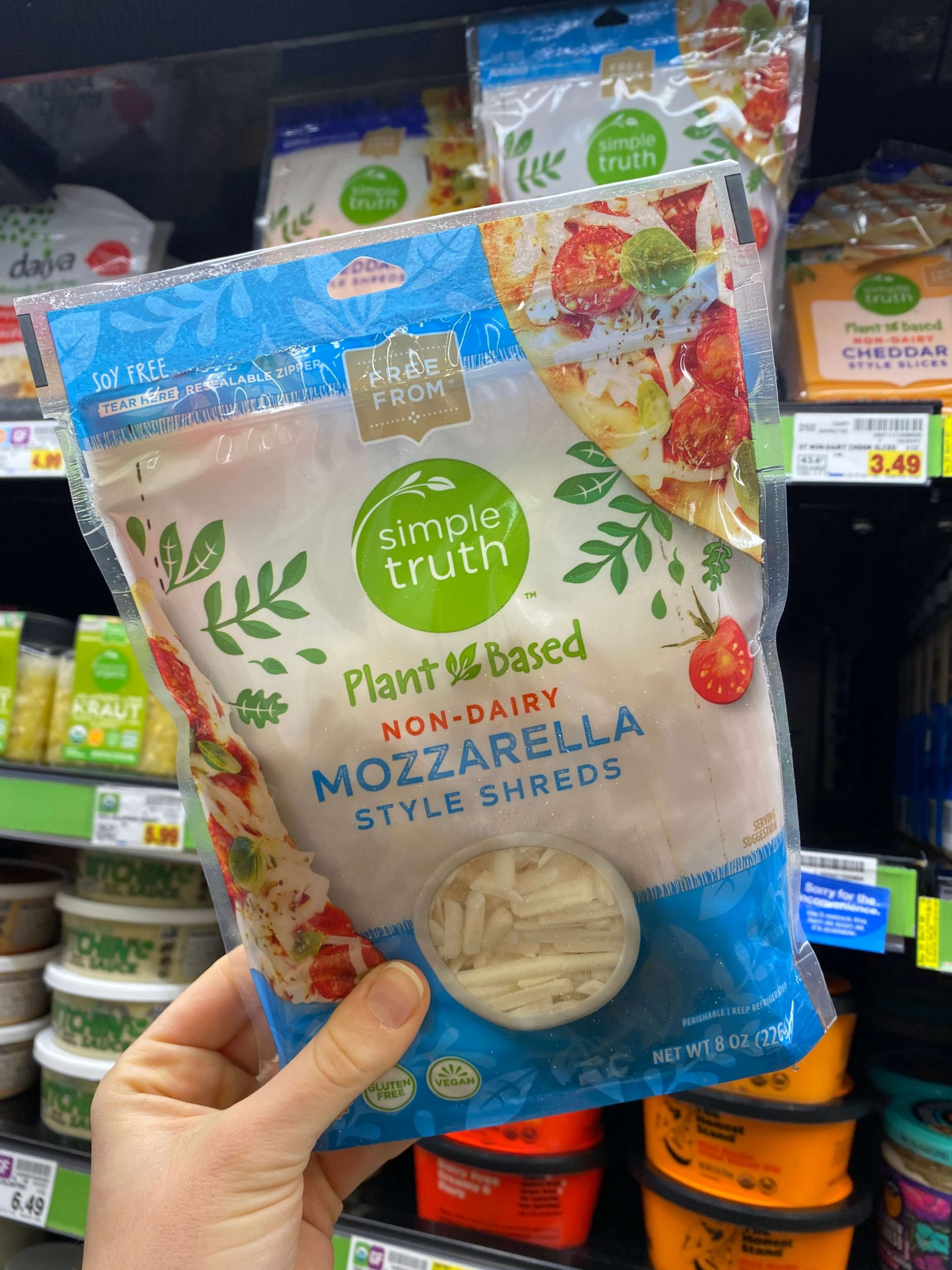 Non-Dairy Cheddar and Mozzarella Style Shreds
